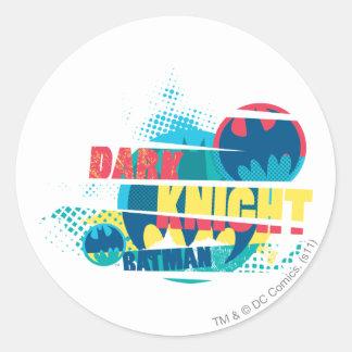 Dark Knight Round Stickers
