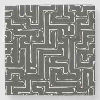 Dark Labyrinth Stone Coaster