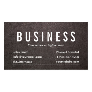 Dark Leather Physical Scientist Business Card