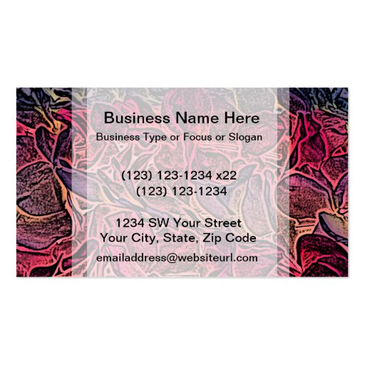 dark lei pink abstract sketch neat background business card template