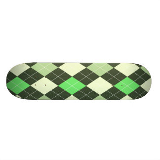 Dark & Light Green Argyle Pattern Skateboards