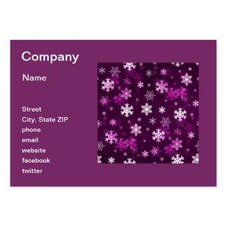 Dark Lilac Snowflakes Business Cards