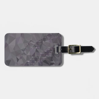 Dark Liver Lavender Abstract Low Polygon Backgroun Luggage Tag