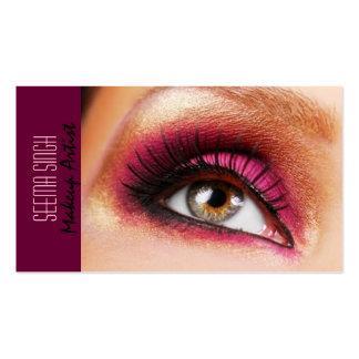 Dark Magenta eyes makeup artist Pack Of Standard Business Cards