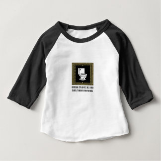 dark male parts joke baby T-Shirt