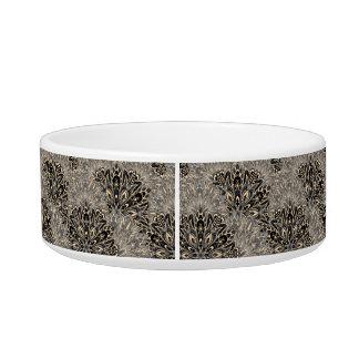 Dark mandala pattern. bowl