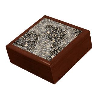 Dark mandala pattern. gift box