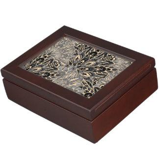 Dark mandala pattern. keepsake box