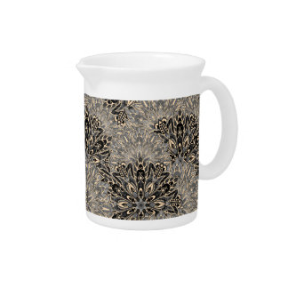 Dark mandala pattern. pitcher