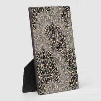Dark mandala pattern. plaque