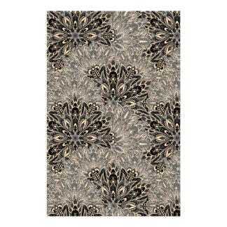 Dark mandala pattern. stationery