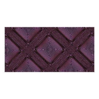 Dark Mauve Abstract Pattern Photo Card Template