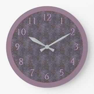 Dark Mauve Rust Blue Large Clock