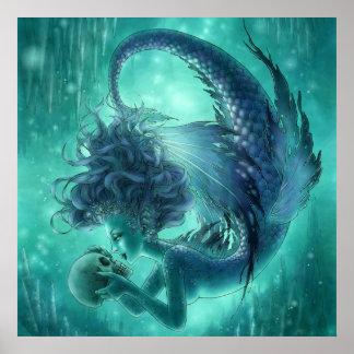 Dark Mermaid Print - Secret Kisses