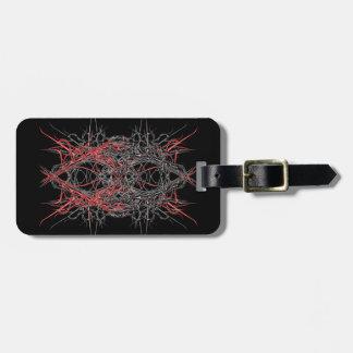 dark metal luggage tag