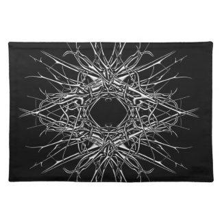 dark metal placemat