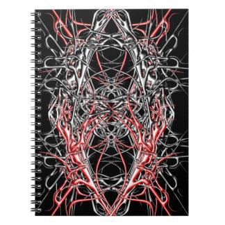 dark metal spiral notebook