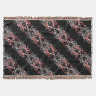 dark metal throw blanket
