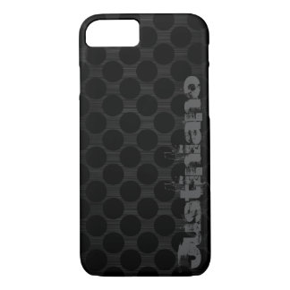 dark metal with dots and name iPhone 8/7 case