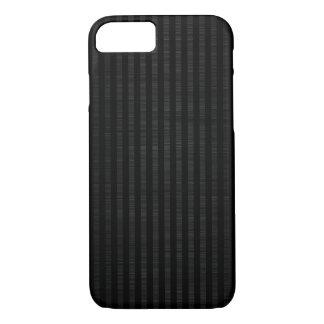 dark metal with vertical black stripes pattern iPhone 7 case