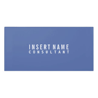 Dark moderate blue Professional Modern Plain Door Sign