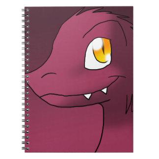 Dark Moderate Pink Microraptor Spiral Note Books