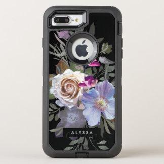 Dark Modern Floral OtterBox Defender iPhone 8 Plus/7 Plus Case