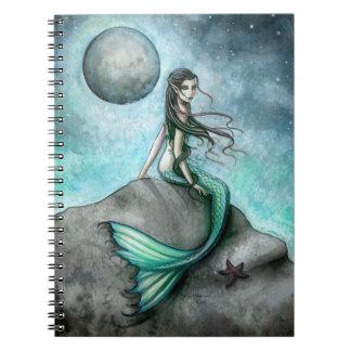 Dark Moon Mermaid Fantasy Art Notebook