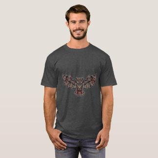 Dark Mosaic Decorative Owl Animal Art Shirt