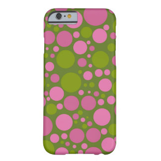 Dark Moss Green & Dark Pink Polka Dots Barely There iPhone 6 Case