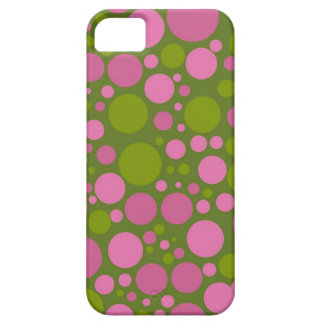 Dark Moss Green & Dark Pink Polka Dots iPhone 5 Cover
