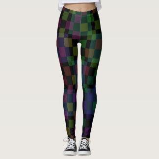 Dark Multi Colored Checker Leggings