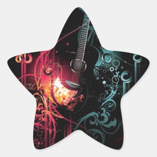 DARK MUSIC CONCERT SHOW INSTRUMENTS GRUNGE ROCK MU STAR STICKER