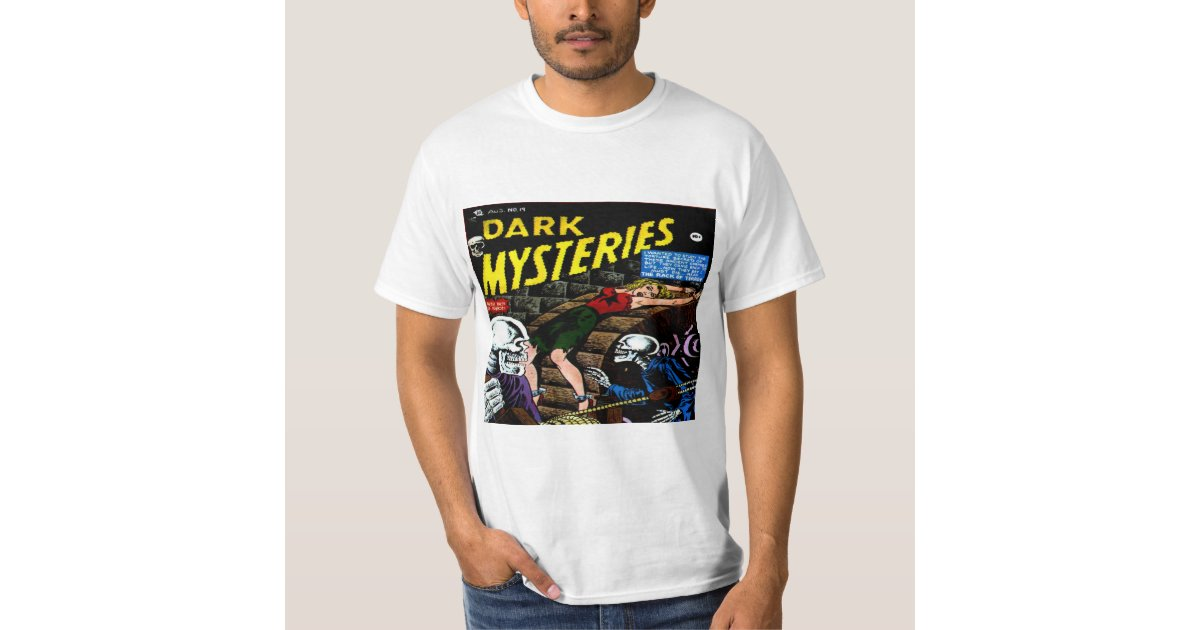 Classic Book Cover T Shirts : Dark mysteries classic comic book cover t shirt