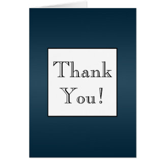 Dark Navy Blue Ombre' Thank You Note Card