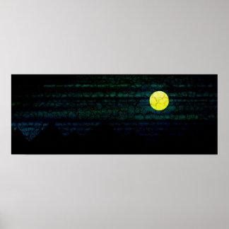 Dark Night Full Moon Poster