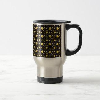 Dark night sky with stars pattern mug