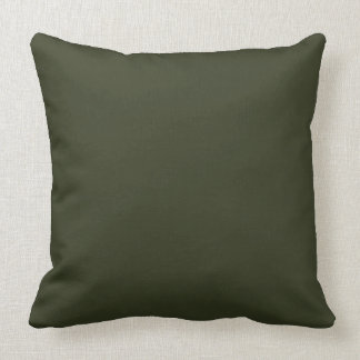 Dark Olive Army Green Modern Color Only 2 Cushion