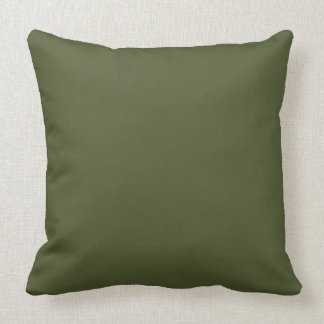 Dark Olive Army Green Modern Color Only 4 Cushion