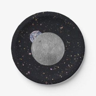 Dark or Far Side of the Moon Paper Plate