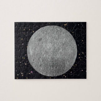 Dark or Far Side of the Moon Starry Sky Jigsaw Puzzle