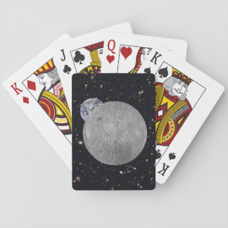 Dark or Far Side of the Moon Starry Sky Playing Cards