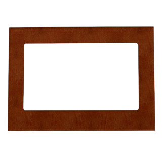 Dark Orange Burnt Retro Leather Texture Magnetic Frame