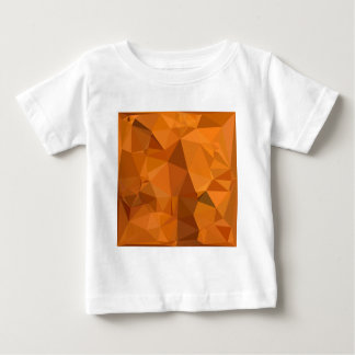 Dark Orange Carrot Abstract Low Polygon Background Baby T-Shirt