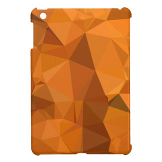 Dark Orange Carrot Abstract Low Polygon Background iPad Mini Cover