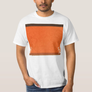 Dark orange damask wedding gift tshirt