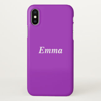 Dark Orchid Personalised iPhone X Case