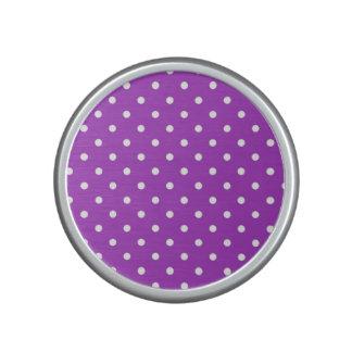 Dark Orchid Polka Dot Bumpster Speaker