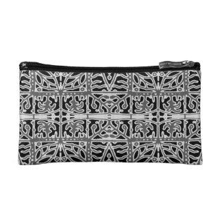 Dark Oriental Ornate Pattern Cosmetic Bag
