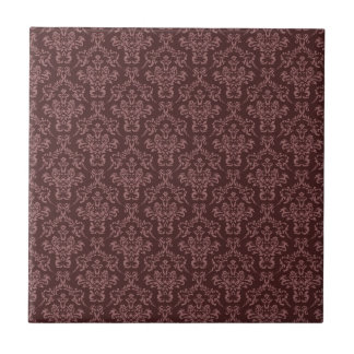 Dark Ornate Burgundy Damask Tile